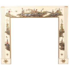 Rare Early 20th Century Chinoiserie Fire Surround