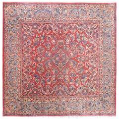 Rare Early 20th Century Square Sarouk Rug