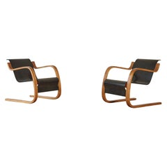 Rare, Early Alvar Aalto Model 31/42 Cantilevered Armchairs, Finland, 1930s