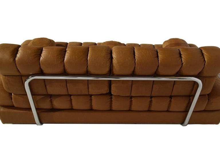 Rare Early Edition De Sede DS 85 Cognac Leather Sofa or Daybed, 1970s For Sale 4