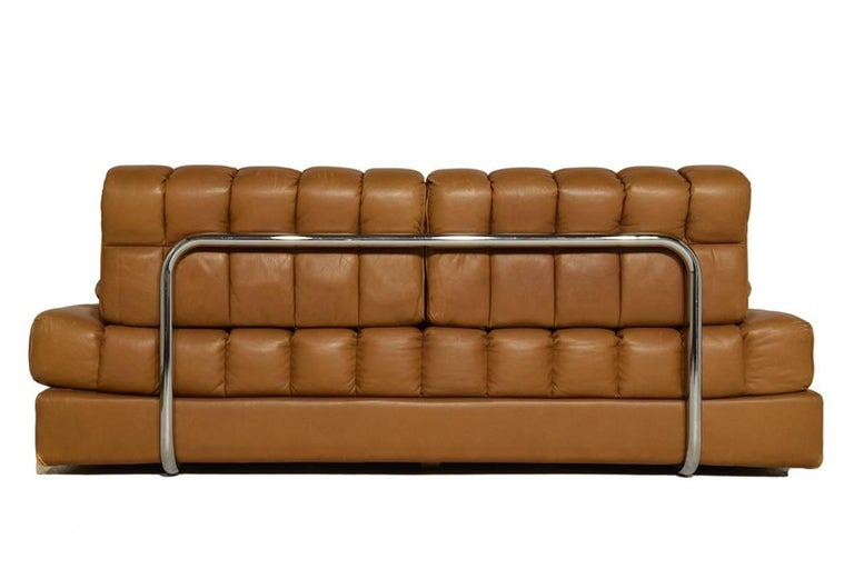 Rare Early Edition De Sede DS 85 Cognac Leather Sofa or Daybed, 1970s In Good Condition For Sale In The Hague, NL
