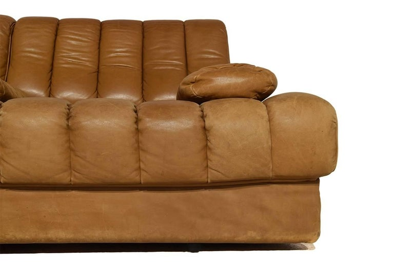 Late 20th Century Rare Early Edition De Sede DS 85 Cognac Leather Sofa or Daybed, 1970s For Sale