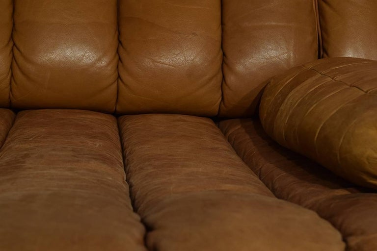 Rare Early Edition De Sede DS 85 Cognac Leather Sofa or Daybed, 1970s For Sale 1