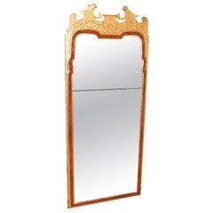 Rare Early Georgian 18th Century Walnut and Gilt Pier Mirror