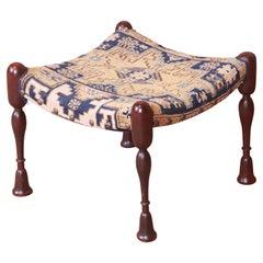 "Rare Early Gustav Stickley ""India Seat"" Stool or Ottoman, Circa 1900"