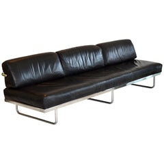 Rare Early LC5 Leather Sofa Le Corbusier, Jeanneret, Perriand, Cassina, Italy