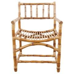 Rare Early McGuire Organic Modern Bamboo Armchair
