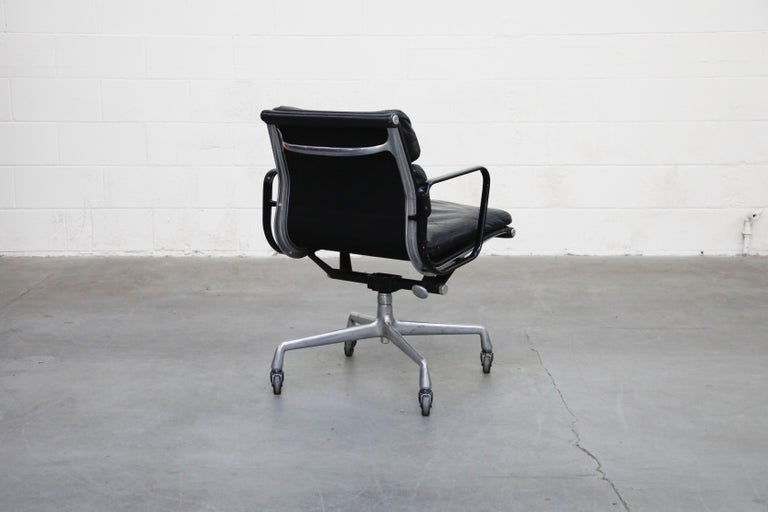 Late 20th Century Rare Early Production Eames Soft Pad Chair by Herman Miller, Signed & Dated 1976 For Sale