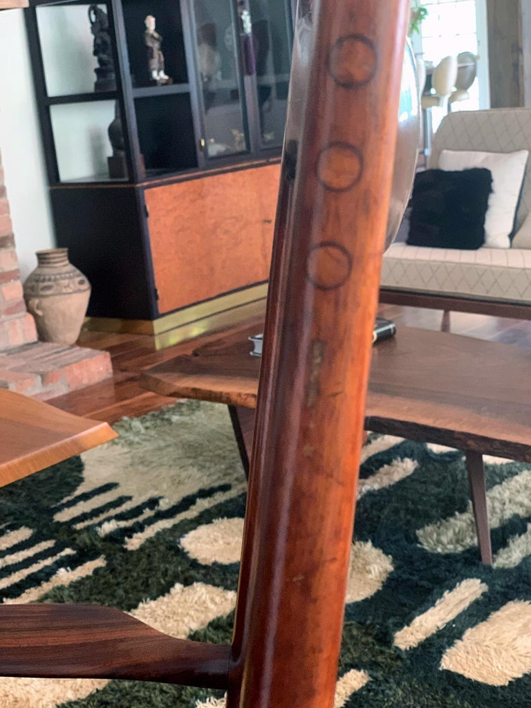 Rare Early Rosewood Rocking Chair by Sam Maloof For Sale 3