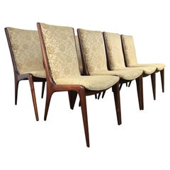 Rare Early Set of 8 Vladimir Kagan Custom Made Sculpted Sling Chairs