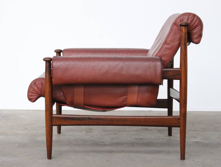 Mid-Century Modern Rare Easy Chair Model Amiral Designed by Eric Merthen for Ire Mobler, Sweden For Sale