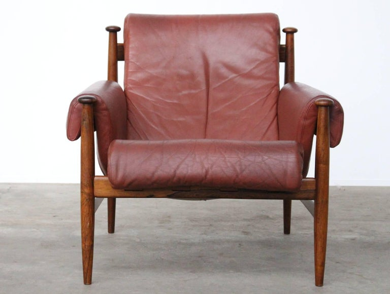 Swedish Rare Easy Chair Model Amiral Designed by Eric Merthen for Ire Mobler, Sweden For Sale