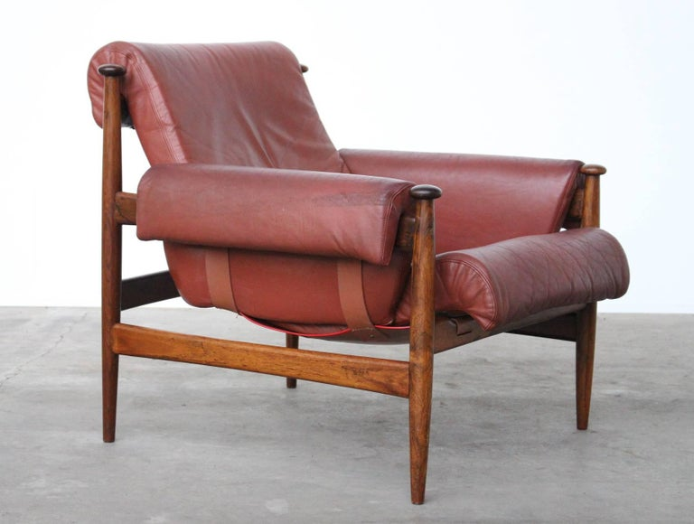 Rare Easy Chair Model Amiral Designed by Eric Merthen for Ire Mobler, Sweden In Good Condition For Sale In Amsterdam, NL