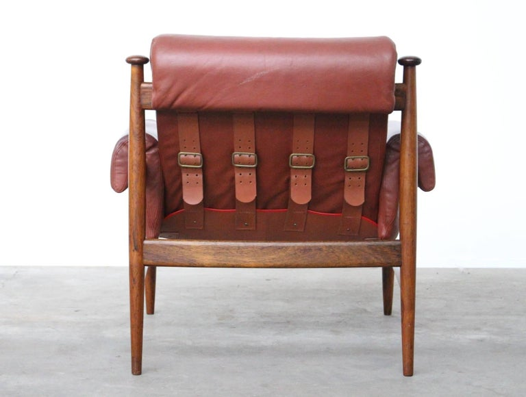 Mid-20th Century Rare Easy Chair Model Amiral Designed by Eric Merthen for Ire Mobler, Sweden For Sale