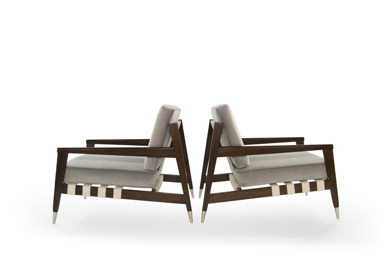 Rare Edmond Spence Strapped Lounge Chairs, 1950s In Excellent Condition For Sale In Stamford, CT