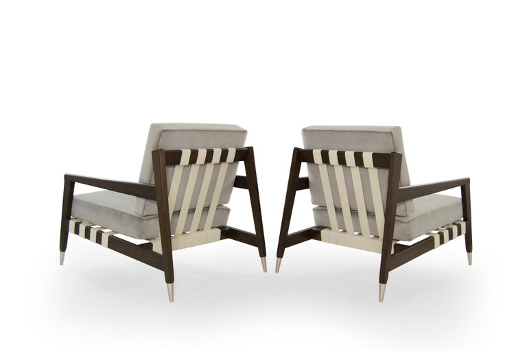 20th Century Rare Edmond Spence Strapped Lounge Chairs, 1950s For Sale