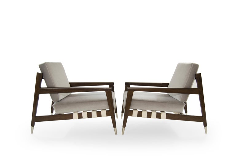 Rare pair of lounge chairs by Swedish born designer Edmond J. Spence for