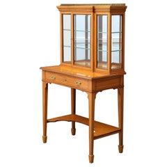 Rare Edwardian Satinwood Cabinet