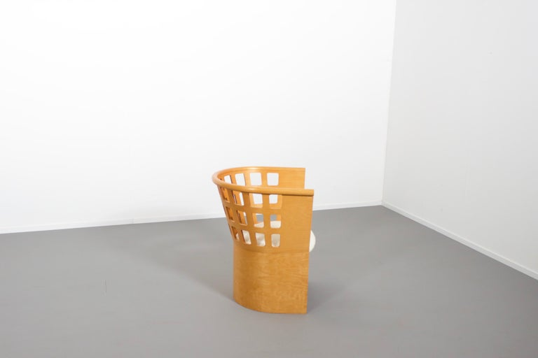 Mid-Century Modern Rare Eero Aarnio Birch Armchair for Asko, Finland For Sale