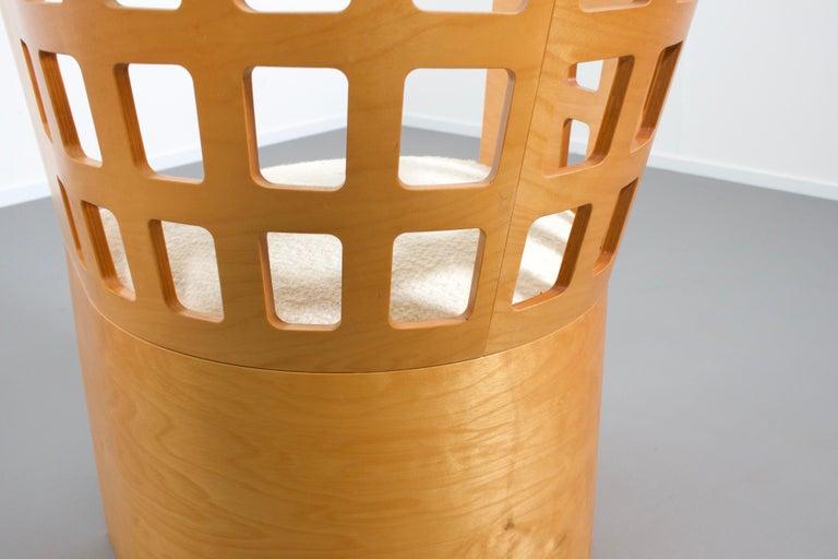 Veneer Rare Eero Aarnio Birch Armchair for Asko, Finland For Sale