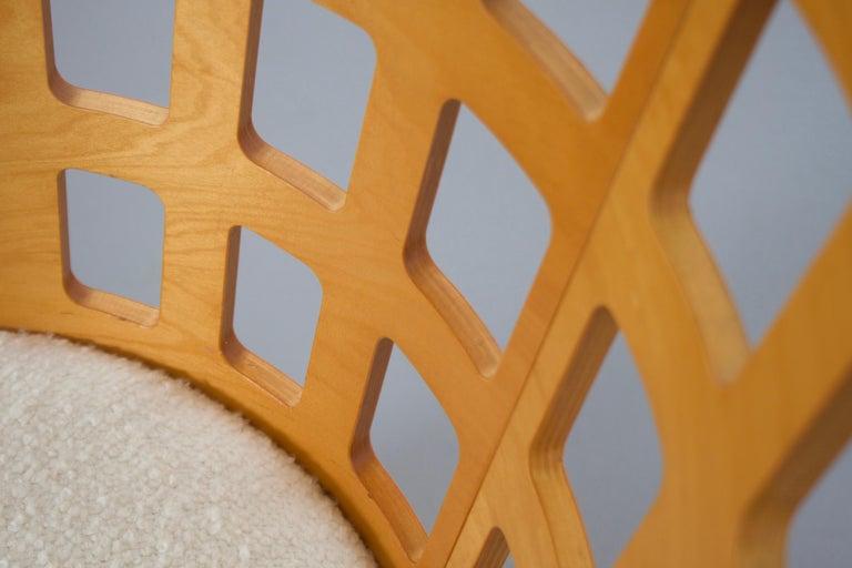 Rare Eero Aarnio Birch Armchair for Asko, Finland In Excellent Condition For Sale In Echt, NL