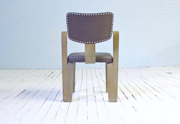 Mid-Century Modern Rare Eero Saarinen 'Grasshopper' Armchair in Laminated Birch, 1946 For Sale