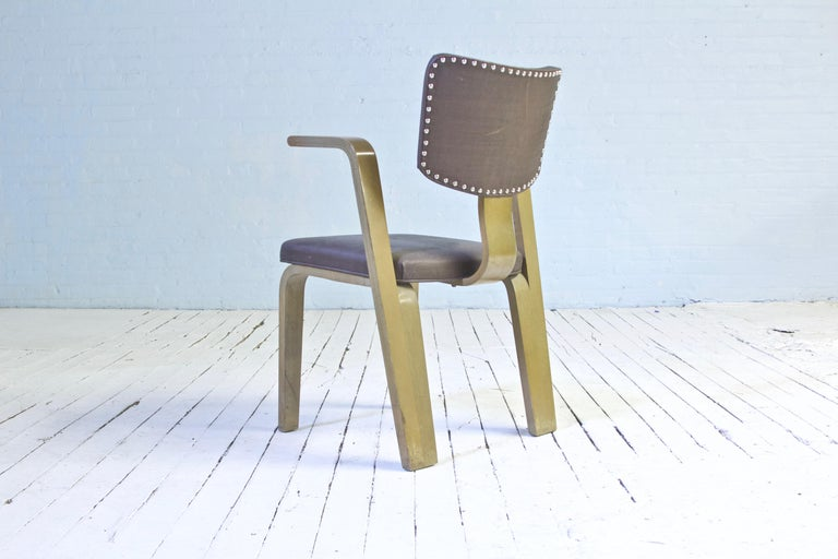 American Rare Eero Saarinen 'Grasshopper' Armchair in Laminated Birch, 1946 For Sale