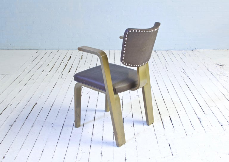 Mid-20th Century Rare Eero Saarinen 'Grasshopper' Armchair in Laminated Birch, 1946 For Sale
