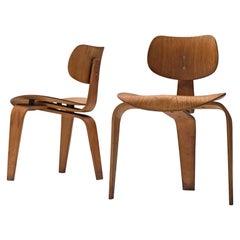 Rare Egon Eiermann Pair of SE42 Plywood Chairs