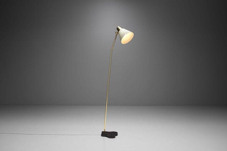 """Scandinavian Modern Rare Einar Bäckström """"EB 5336"""" Floor Lamp, Sweden, 1950s"""