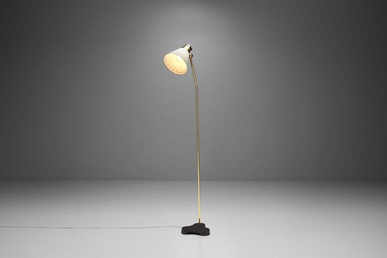 """Rare Einar Bäckström """"EB 5336"""" Floor Lamp, Sweden, 1950s In Good Condition In Utrecht, NL"""