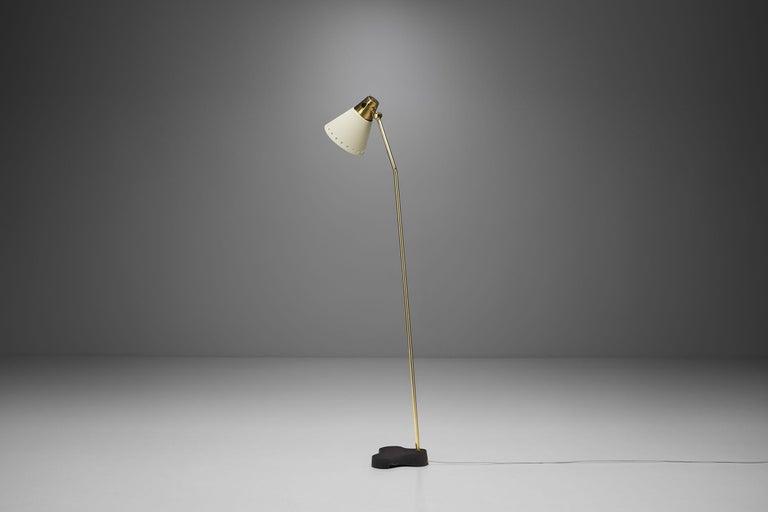 "Mid-20th Century Rare Einar Bäckström ""EB 5336"" Floor Lamp, Sweden, 1950s"