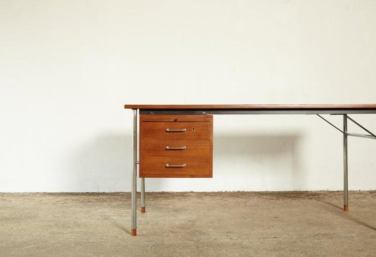 Danish Rare Ejner Larsen and Aksel Bender Madsen Desk, Denmark, 1960s For Sale