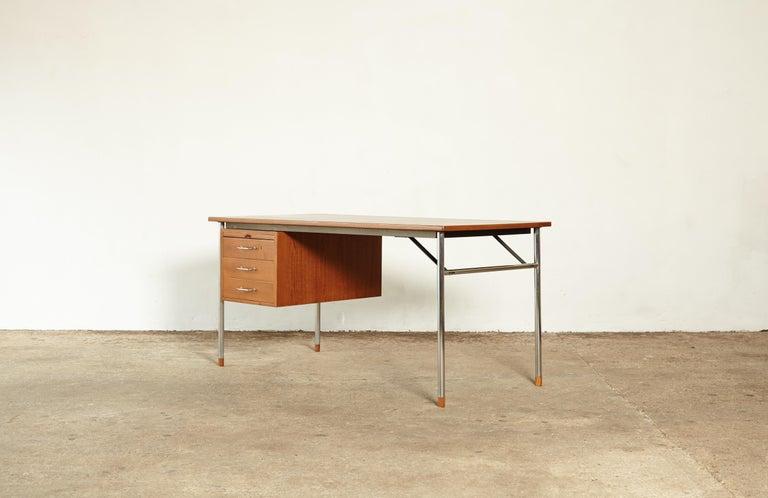 Steel Rare Ejner Larsen and Aksel Bender Madsen Desk, Denmark, 1960s For Sale