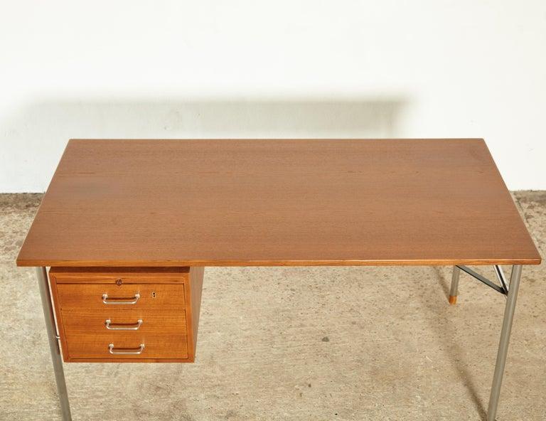Rare Ejner Larsen and Aksel Bender Madsen Desk, Denmark, 1960s For Sale 2