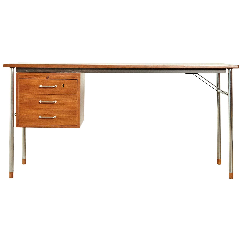 Rare Ejner Larsen and Aksel Bender Madsen Desk, Denmark, 1960s