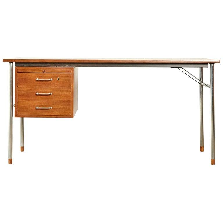 Rare Ejner Larsen and Aksel Bender Madsen Desk, Denmark, 1960s For Sale