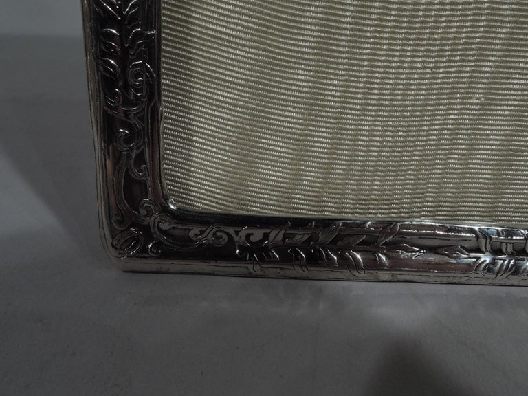 Early 20th Century Rare & Elegant Tiffany Edwardian Sterling Silver Double Picture Frame For Sale