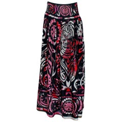 Rare Emilio Pucci by Peter Dundas Signature Patchwork Embroidered Maxi Skirt