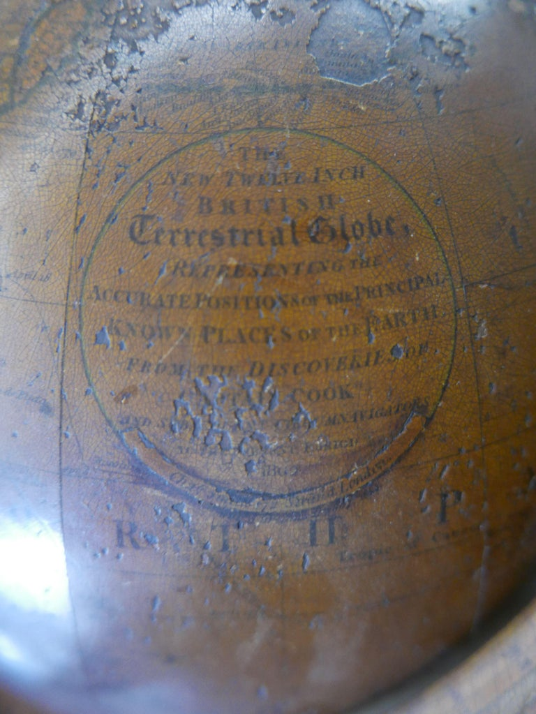 Rare English Terrestrial Globe by Charles Smith, 1807 For Sale 1