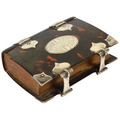 Rare English 18th Cent. Tortoise Shell and Silver Covered Book of Common Prayer