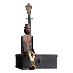 Rare English National Microphone Dancing Man Figure, circa 1930