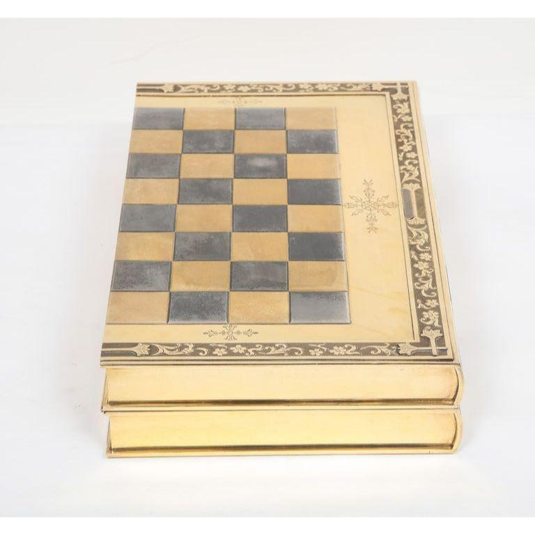 Rare English Silver-Gilt Book-Form Chess and Backgammon Game Board, circa 1976 For Sale 6