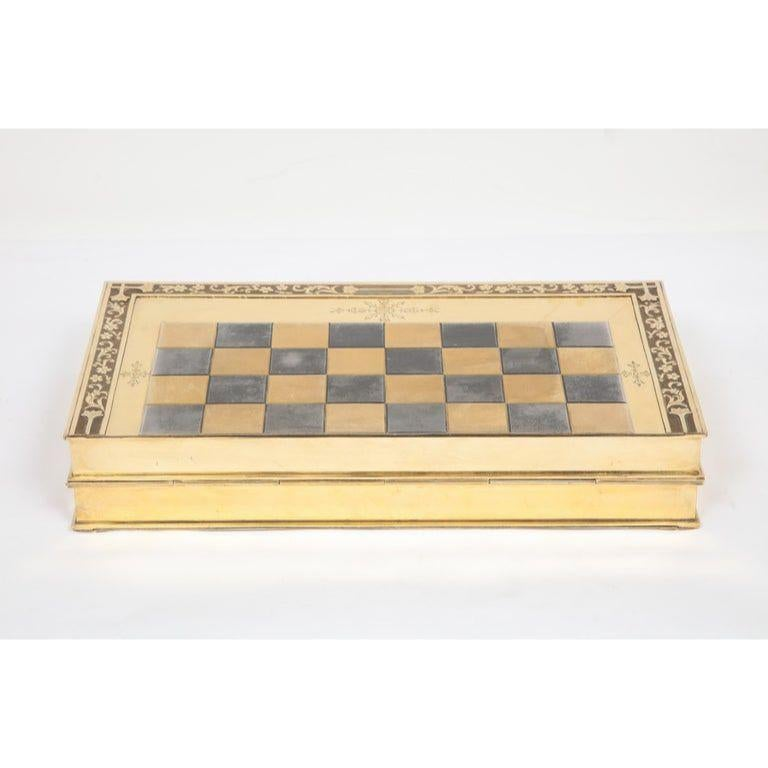 Rare English Silver-Gilt Book-Form Chess and Backgammon Game Board, circa 1976 For Sale 8