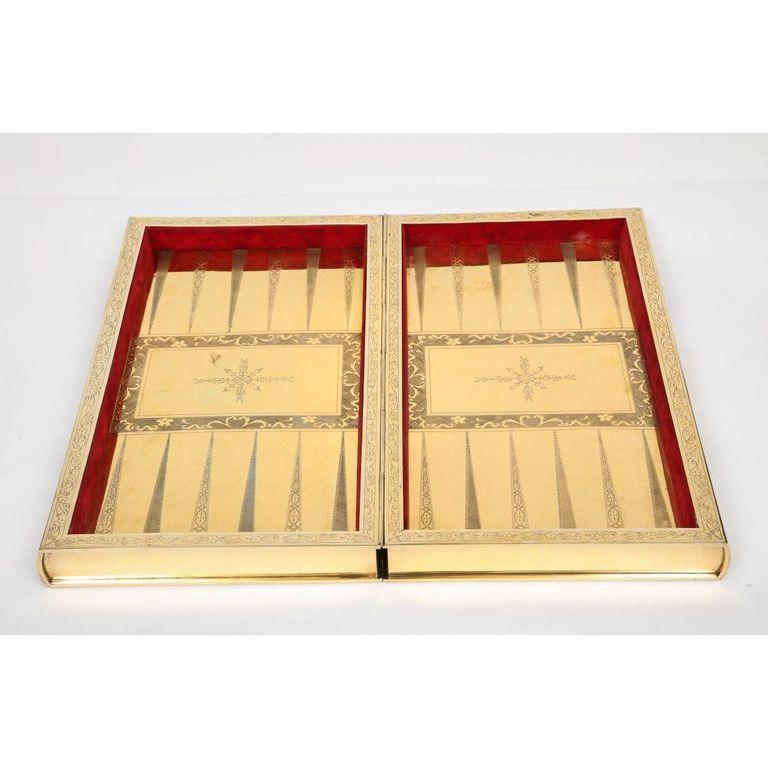 Rare English Silver-Gilt Book-Form Chess and Backgammon Game Board, circa 1976 For Sale 9