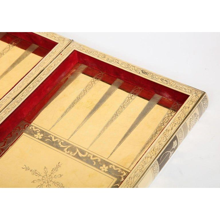 Rare English Silver-Gilt Book-Form Chess and Backgammon Game Board, circa 1976 For Sale 10