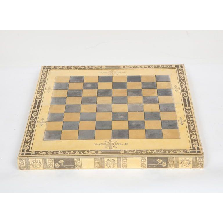 Rare English Silver-Gilt Book-Form Chess and Backgammon Game Board, circa 1976 For Sale 12