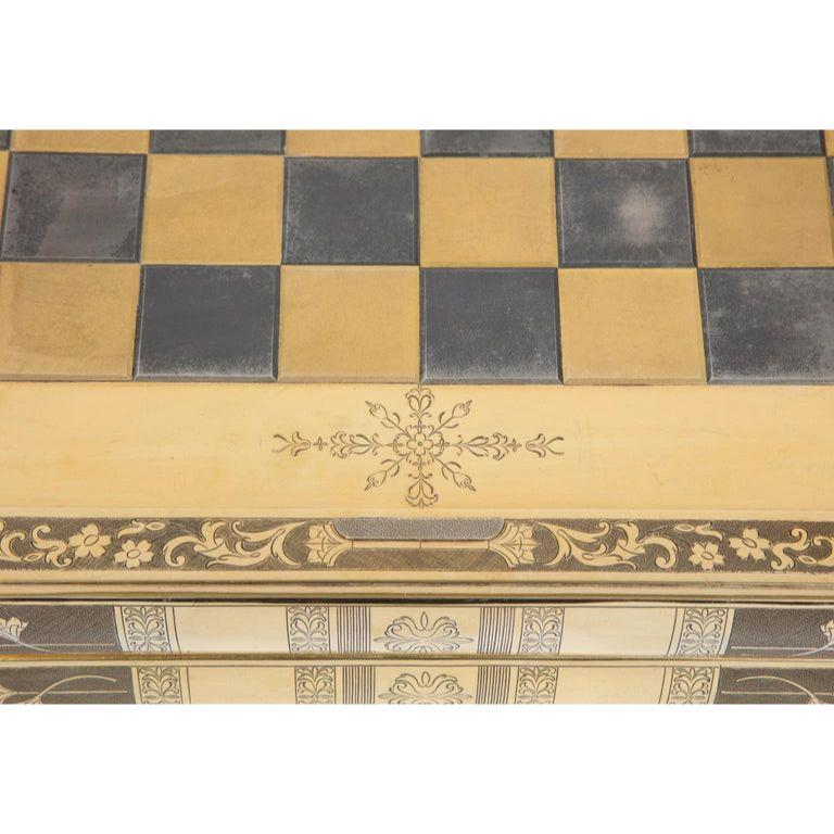 Rare English Silver-Gilt Book-Form Chess and Backgammon Game Board, circa 1976 For Sale 4
