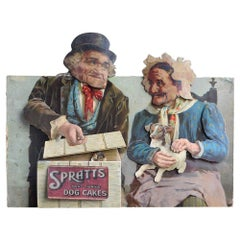 Rare English Spratts Advertising Counter Display Automaton, circa 1905
