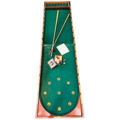 19th Century Victorian Table Billiard Game, Foldable Game, Wood